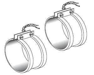 Mica Heater Bands With Flange Lock-ups